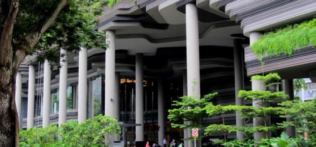 Sustainability strategy of PARKROYAL on Pickering hotel in Singapore