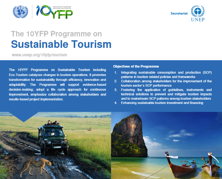 10YFP Programme on Sustainable Tourism by UNEP UNWTO