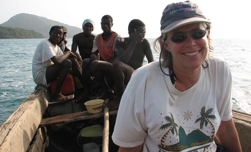 Megan on a field trip in Sierra Leone