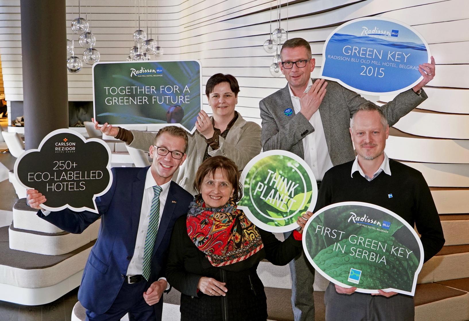 Green Key certified sustainable hotel Radisson Blu Old Mill Hotel Belgrade