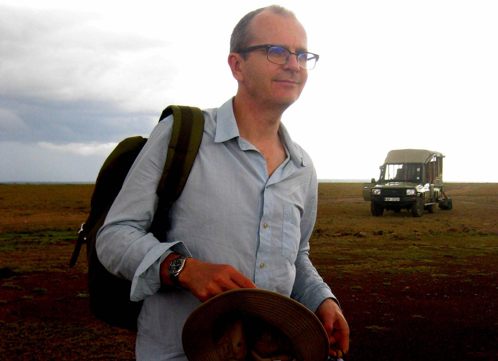 Responsible Travel founder Justin Francis in Kenya, 2014