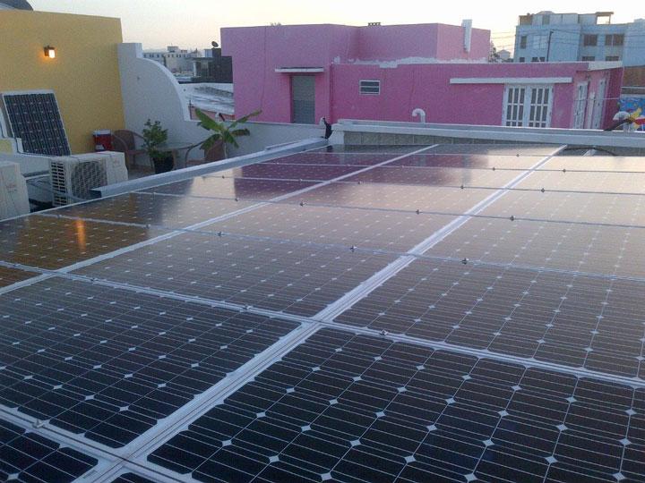 Solar panels at Casa Sol Puerto Rico