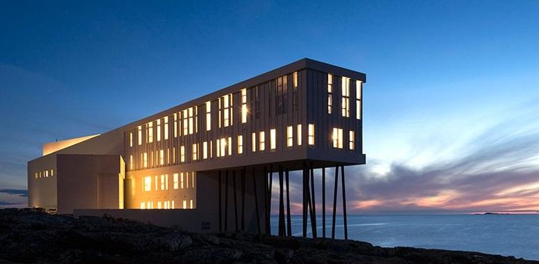 Ejemplo de turismo sostenible Fogo Island Inn, Newfoundland
