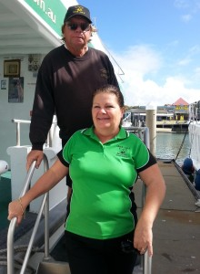 Brian and Jill, Hervey Bay Whale Watch pioneers, Queensland, Australia