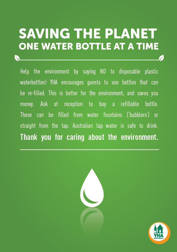 YHA Australia Water Bottle Project
