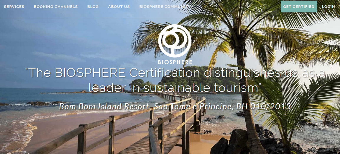 Website Biopshere responsible tourism certification