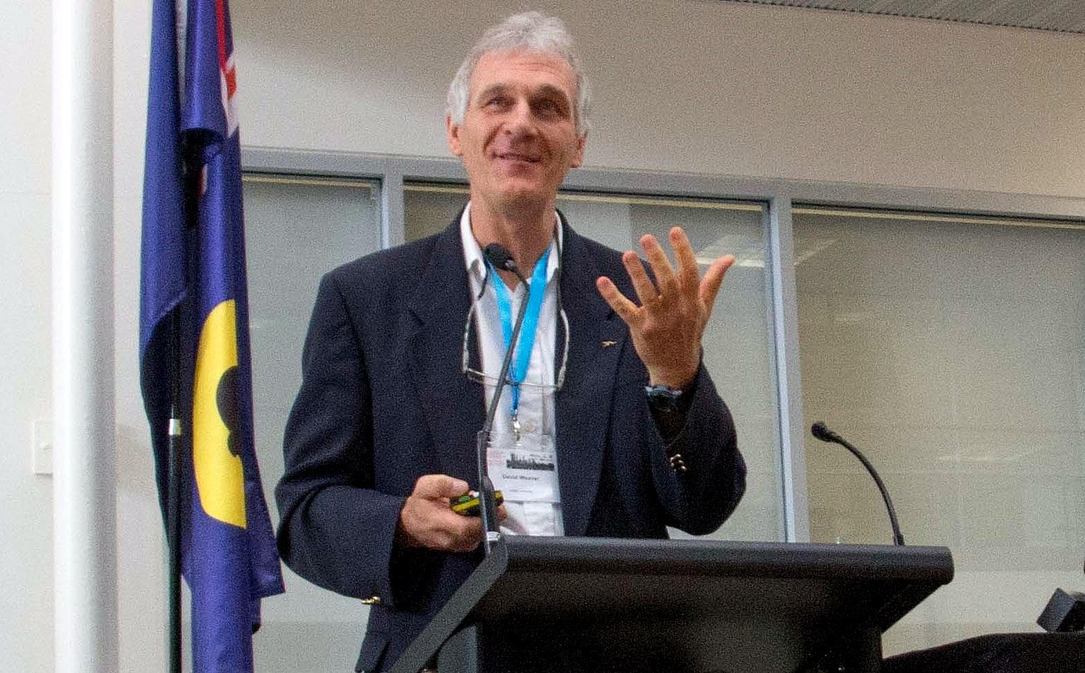 Profesor David Weaver at ITSA Perth Nov 2014