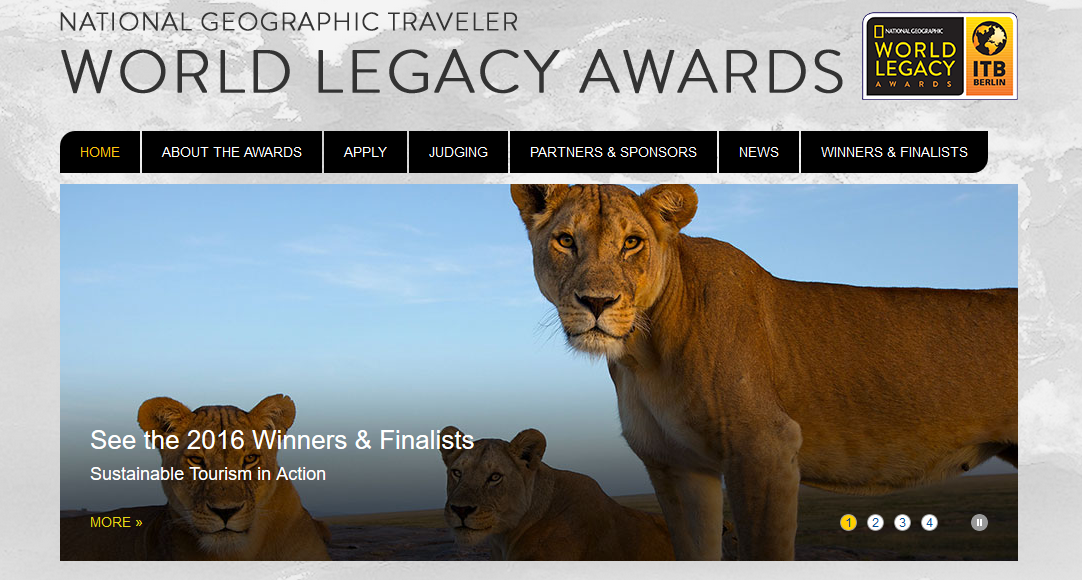National Geographic ITB World Legacy Awards Website