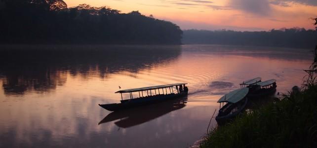 Native Tours Boat on Tambopata river, Amazon