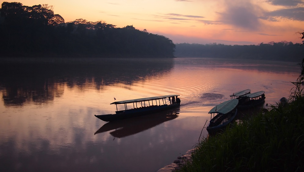 Native Tours Boat on Tambopata river, Amazon