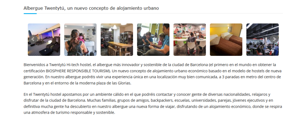 Twentytú Hi-tech Hostel Barcelona - innovation and sustainability
