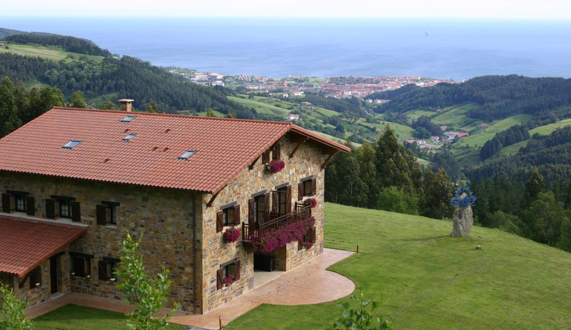 Lurdeia Casa Rural panoramic view - agrotourism Basque Country, Spain