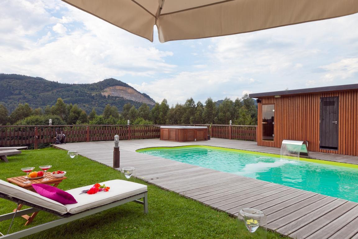 Swimming pool in Las Casas de EA Astei, sustainable rural house