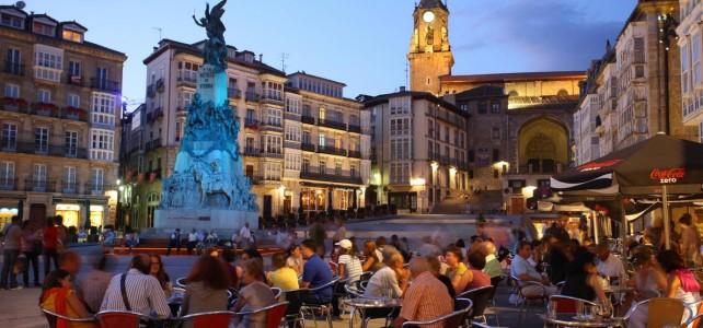 Virgen Blanca Square in Vitoria-Gasteiz Basque Country