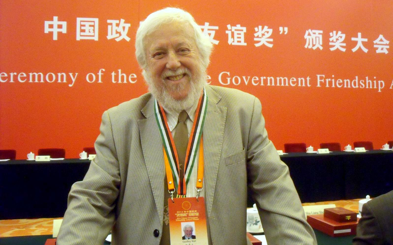 Professor Geoffrey Wall in China