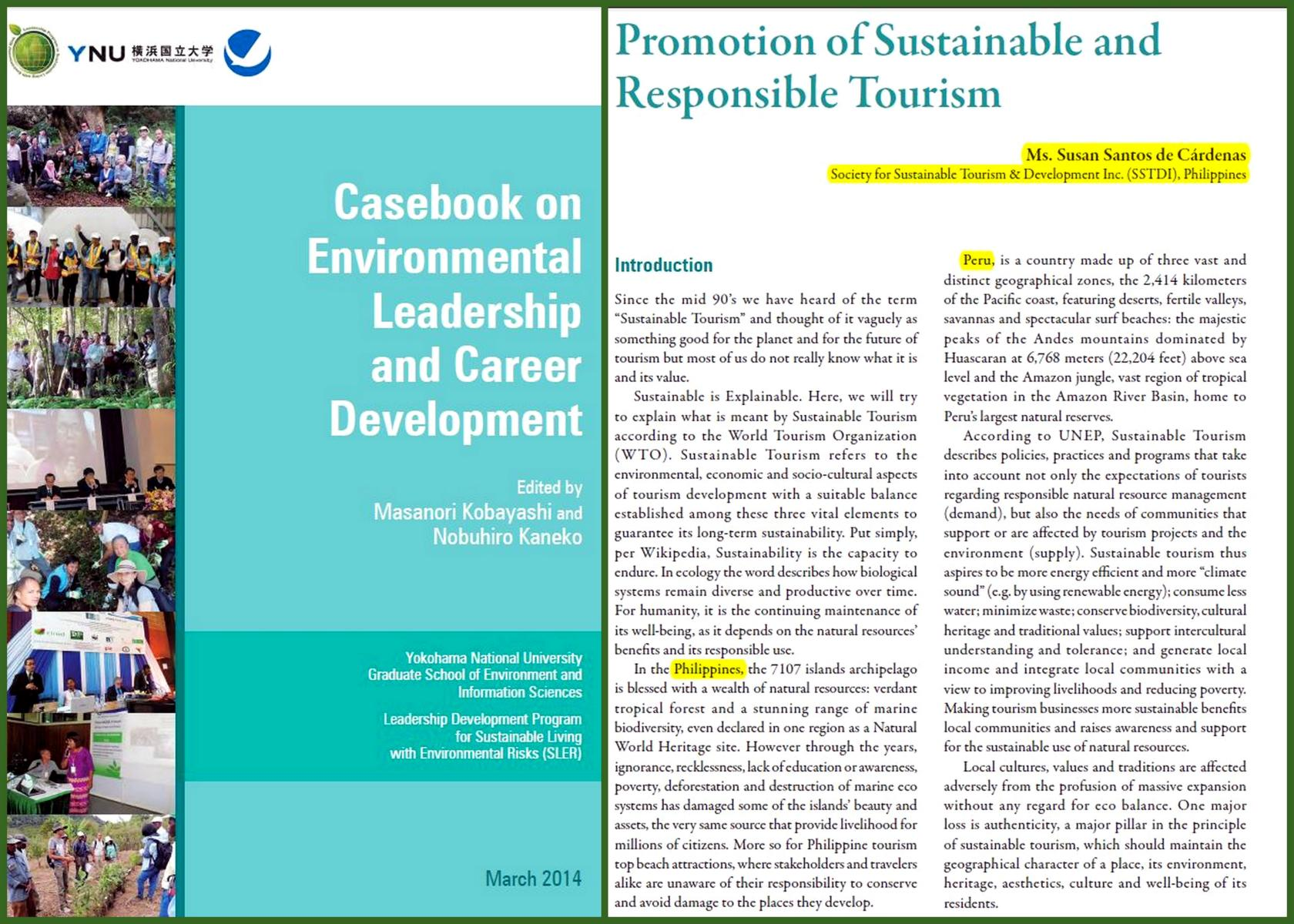 casebook sustainable tourism
