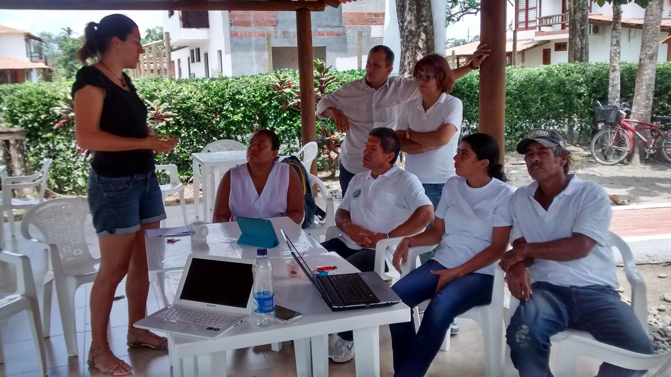 Florie and the team of La Cachamera - Colombia