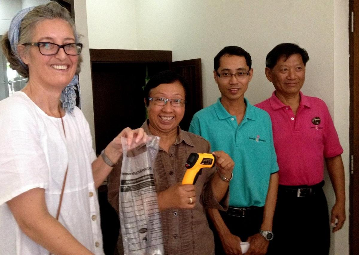 Discussing energy and water saving techniques with hoteliers in Thailand