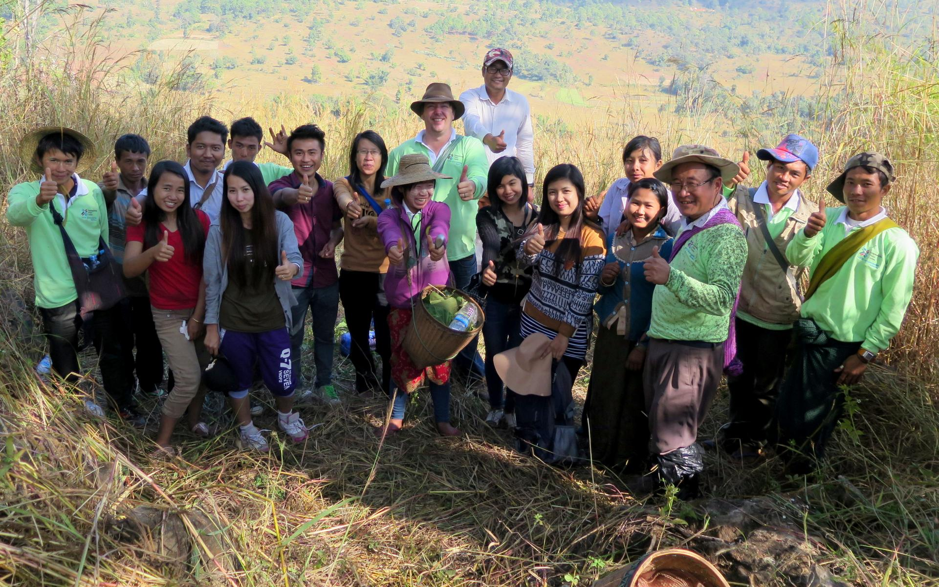 Surveying trekking routes in Pan Pet, Kayah State