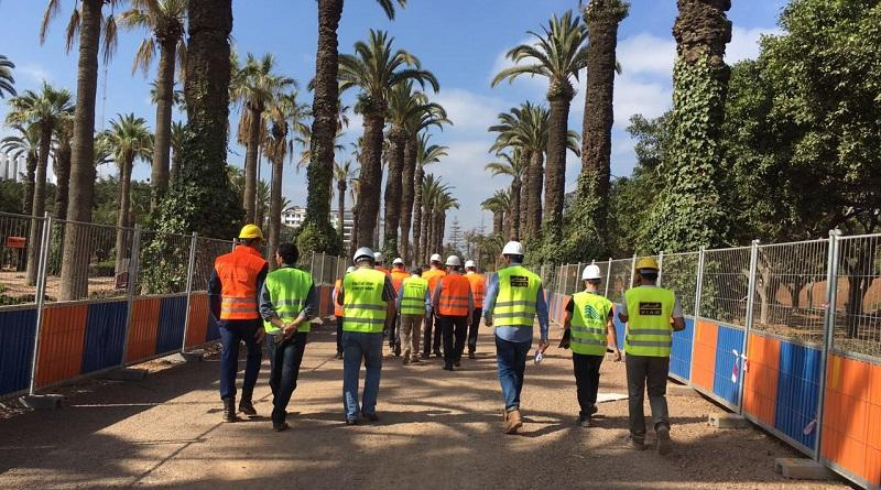 Amine Ahlafi on a site visit