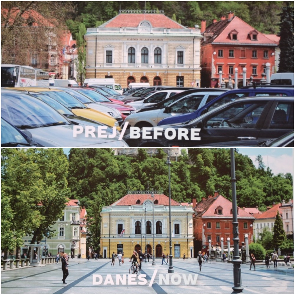 Ljubljana before and after Green Slovenia Initiative