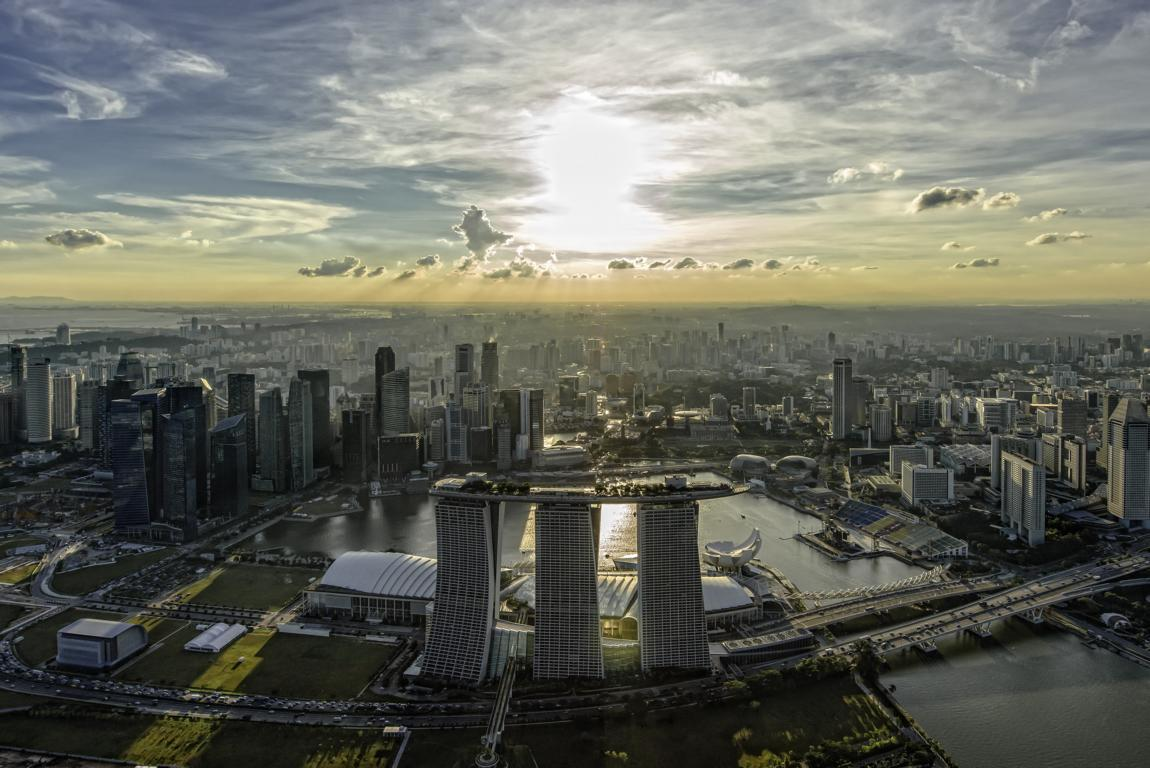 Marina Bay Sands Singapur - Vista aerea