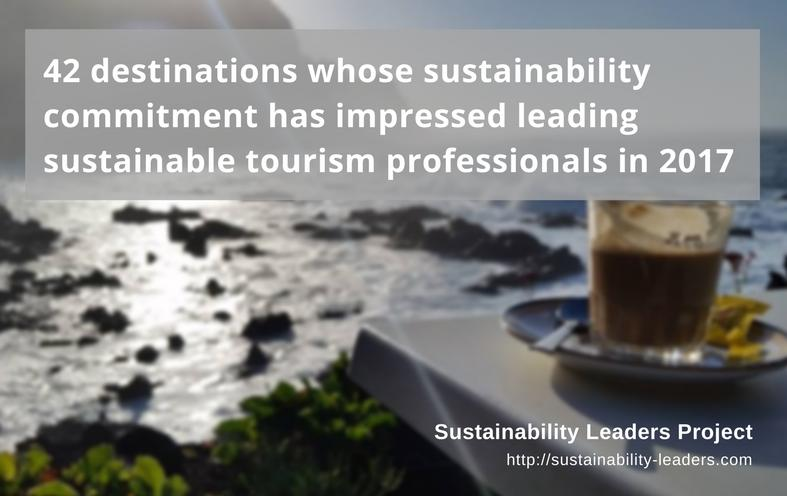 42 destinations which have shown sustainability leadership in 2017
