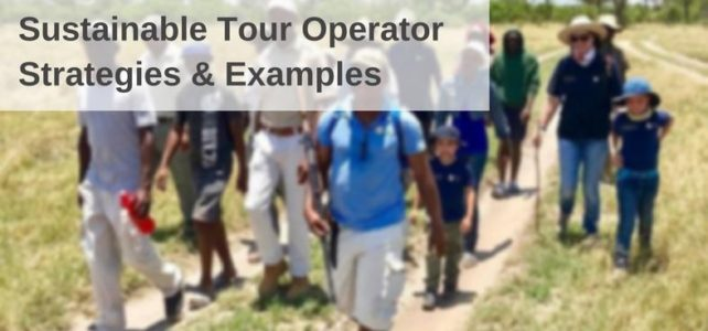Sustainable tour operator strategies and examples