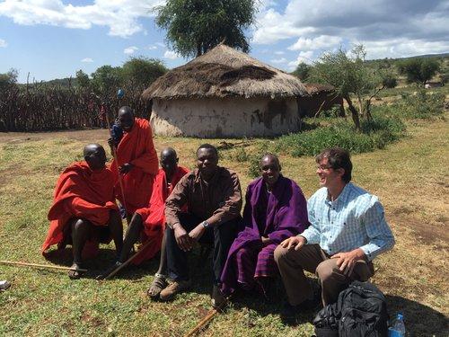 Brian Mullis at Ngorongoro Crater - UNESCO Project