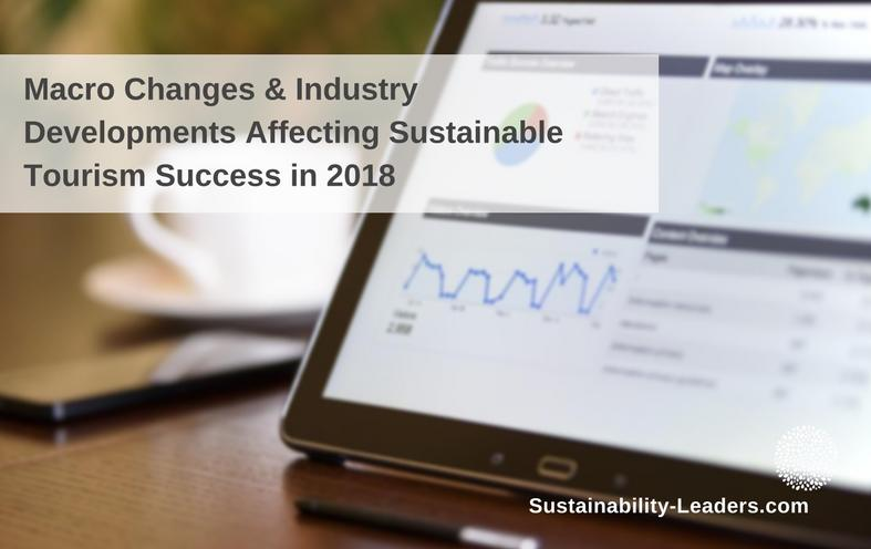 Macro changes affecting sustainable tourism success in 2018